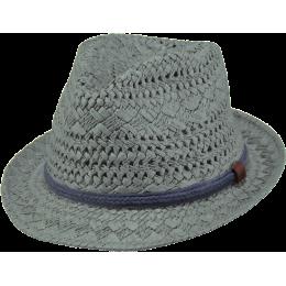 Ibiza Trilby Hat Dark Celadon Grey Paper - Barts