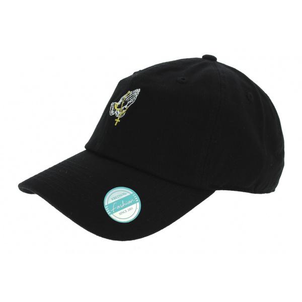 Baseball cap Strapback Pray Cotton Black