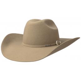 Chapeau Cowboy Cattleman revolver beige Stetson