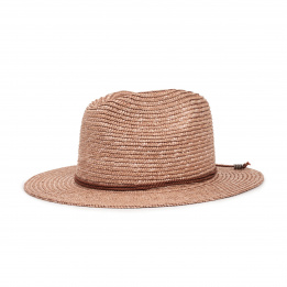 Chapeau Fedora Lera Paille Rose - Brixton