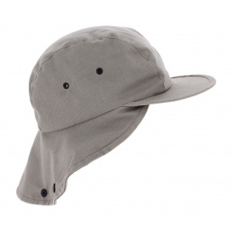 Casquette Baseball Cache Nuque Hunter Coton Beige - Traclet