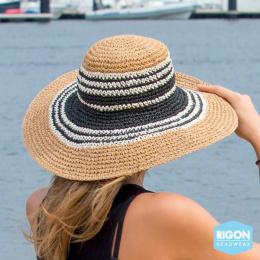 Capeline Betina Bicolore Fibres Naturelles - Rigon Headwear