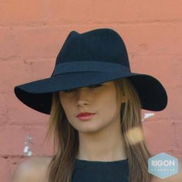 Capeline Feutre Laine Noir Monica - Rigon Headwear