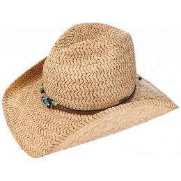 Chapeau Cowboy Bullet Proof Paille Naturel - Traclet