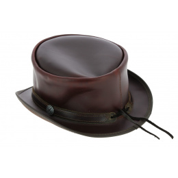 Hampton Leather Half Top Hat - Head'nHome