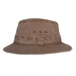 Chapeau Traveller marron Coton -