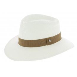 Chapeau Traveller Libertad Panama Blanc / Marron - Traclet