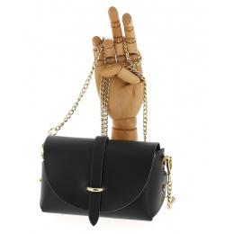 Black leather courtesy bag