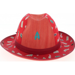 chapeau enfant crambes rouge (made in FRANCE)