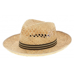 Fedora Providenciales Large Straw Brim Hat - Traclet