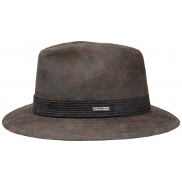 Chapeau cuir Elkhart Stetson - Marron