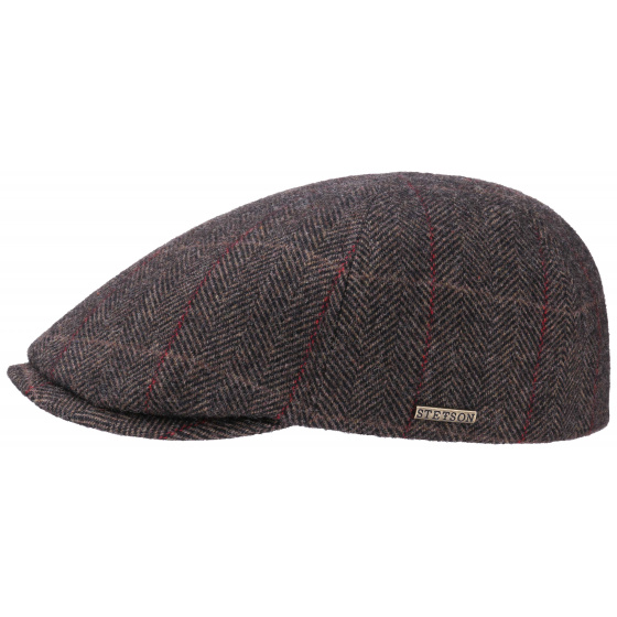 Casquette Plate BrownWood Laine - Stetson