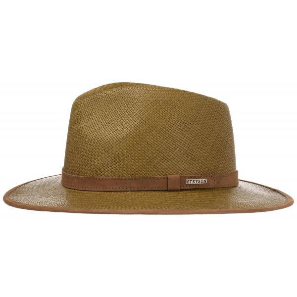 Chapeau en Paille Groton Olive Panama Stetson