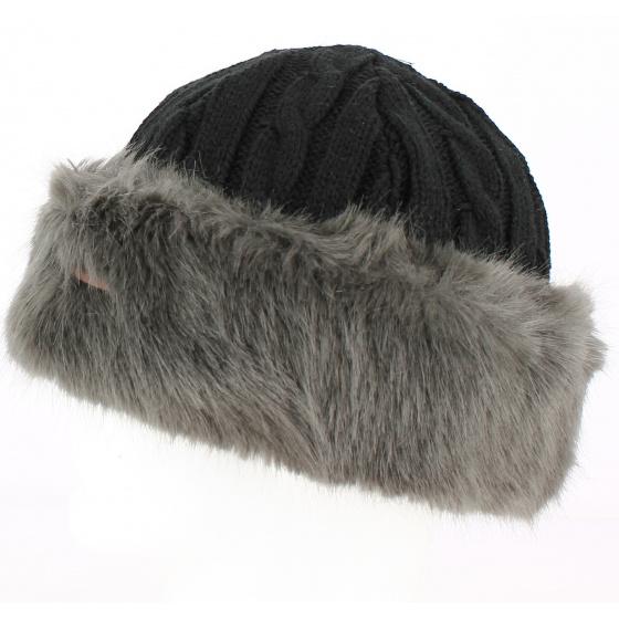 Bonnet-Toque Cable Fausse Fourrure bandahat grey - Barts
