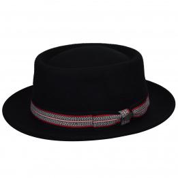 Chapeau porkpie Klaxon Noir - Bailey