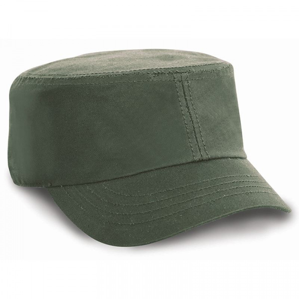 Army Cotton Olive Cap - Result Headwear