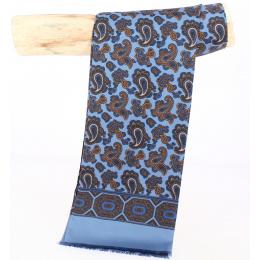 Foulard Homme bleu ciel motifs bleu - City Sport