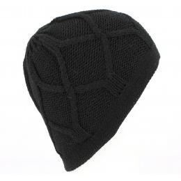 Bonnet Marvin Tricoté Noir - Traclet