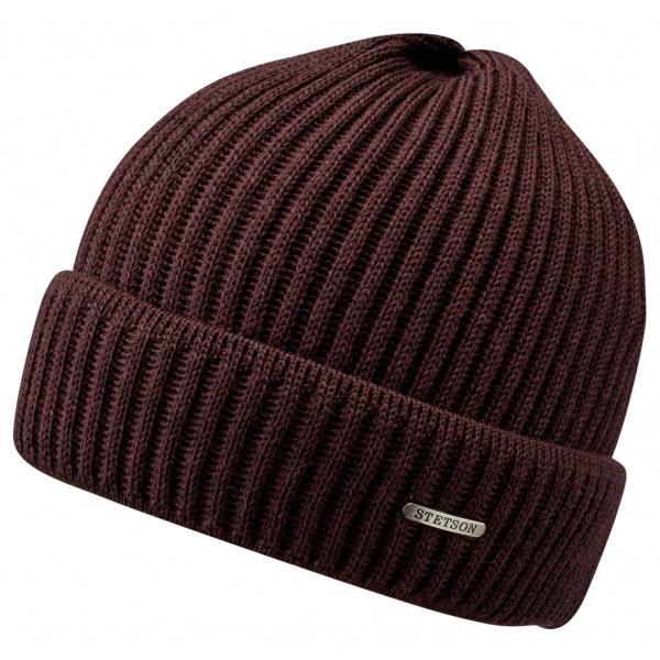 Bonnet Stetson- Parkman tricot Bordeaux