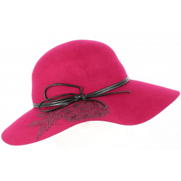 Chapeau capeline - Terracotta