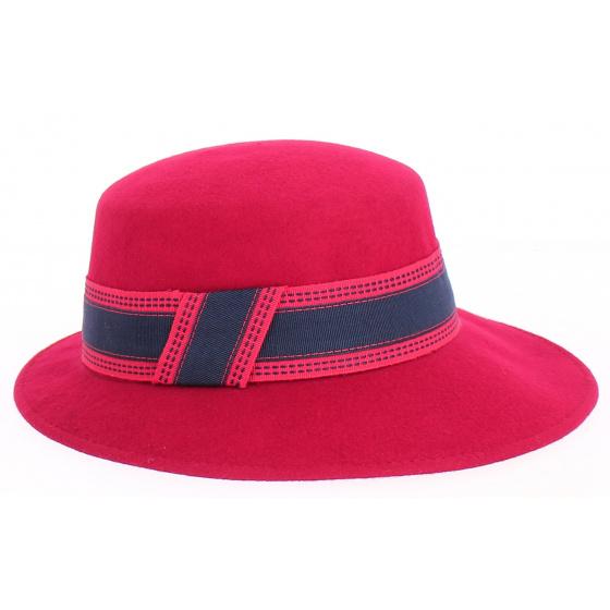 Giuditta - casquette en feutre Rouge - Grambes