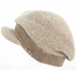 Bonnet casquette Gregorio beige - Fléchet