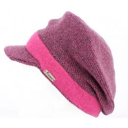 Bonnet casquette Gregorio fushia - Fléchet