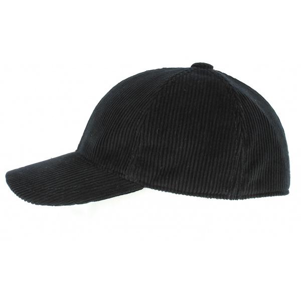 Casquette Baseball Cord Coton Noir - Crambes