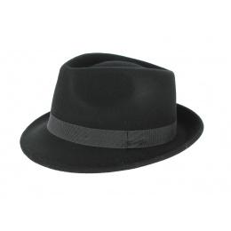 Chapeau Trilby en Feutre Laine Noir- Traclet