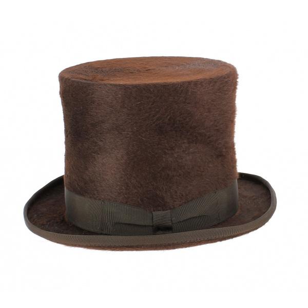 Chapeau haut de forme mélusine marron - Traclet