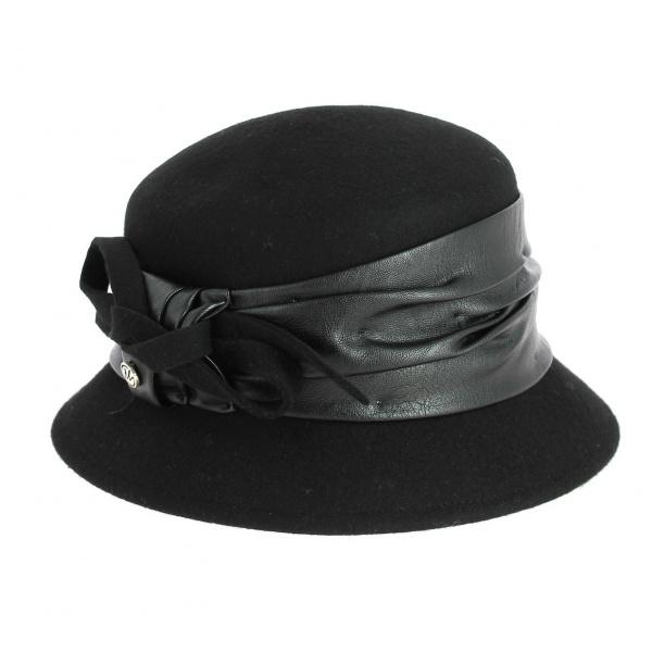 ad132345d Chapeau Cloche en Feutre Laine Gris- Traclet