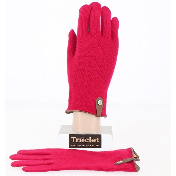 Gants Tactiles Séville Laine & cachemire Rouge - Traclet