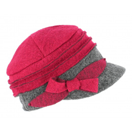 Casquette Gavroche Alessia  Laine Rouge - TRACLET
