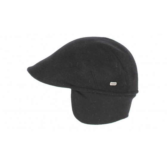 Polo cap with earflaps Black - Crambes