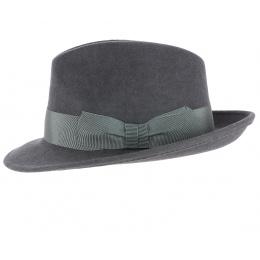 Chapeau Fedora Castello Imperméable Gris - Traclet