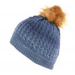 Bonnet a pompon Marie Bleu - Traclet