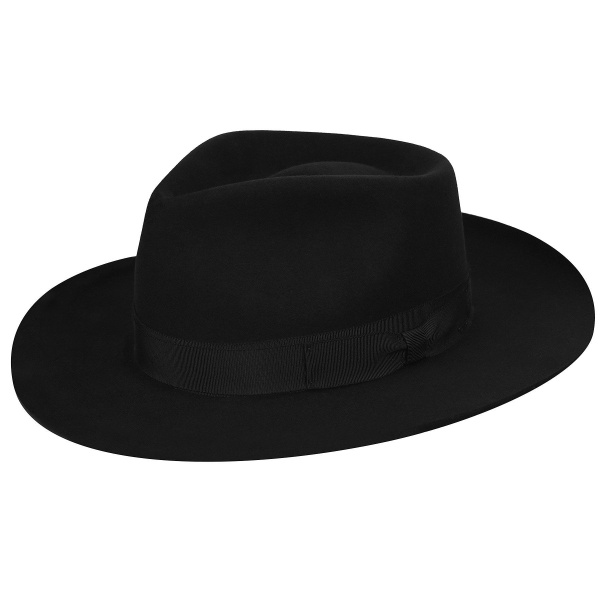 Chapeau Bankside Fedora Noir- Bailey
