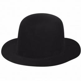 Chapeau Newsten Fedora Noir Velours- Bailey