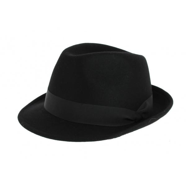 Chapeau Trilby Bart Noir- Crambes