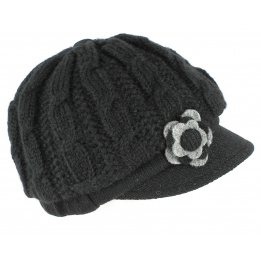 Casquette Gavroche Angèle Tricot Noir - Traclet