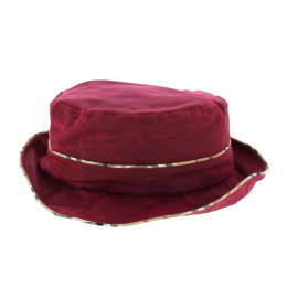 Chapeau Cloche en Coton Huilé Bordeaux- Traclet