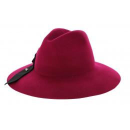 Red Cabernet Hat Red Felt Wool-Fleck Hat