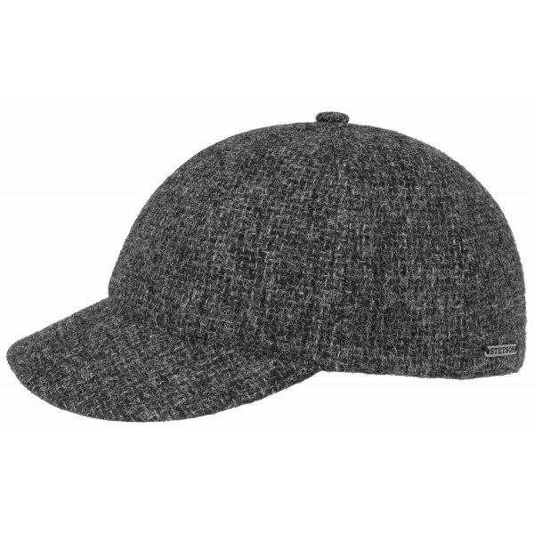 Casquette Baseball Tampa Anthracite en Laine- Stetson