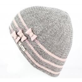 Bonnet Nina Rose/Gris- Fléchet