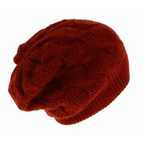 Bonnet Plat Angora Noir- Traclet
