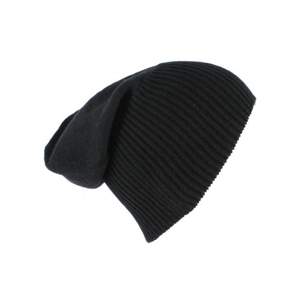 Bonnet Cachemire Classique Noir-Traclet