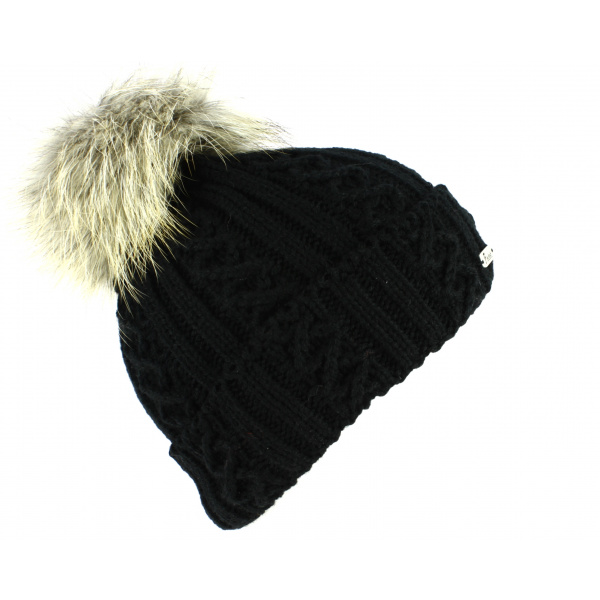 Bonnet à Pompon Noir-Fléchet