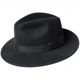 Chapeau Hereford Fedora Noir- Bailey