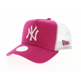Casquette New York Yankees Essential Trucker Rose/Blanc- New Era