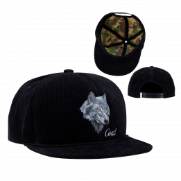 Casquette Visière Plate Loup- The Wilderness - Coal